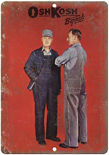 Osh Kosh B'Gosh Workwear Overall Blechschilder Vintage Metall Poster Retro Schild Original Blechschild Plakette Poster Zum Bar Cafe Garage Tankstelle Zuhause Verein Oshkosh Overall
