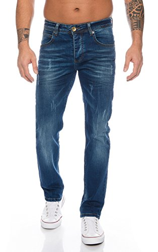 Rock Creek Herren Jeans Deep Blue RC-2110 [W32 L32]