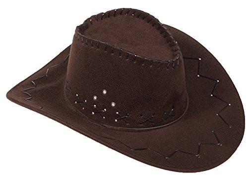 Miobo Cowboyhut Westernhut Cowgirl australien Texas Cowboy Damenhut Herrenhut Hut Hüte Western Schwarzbruan - 5/4 Western Leder