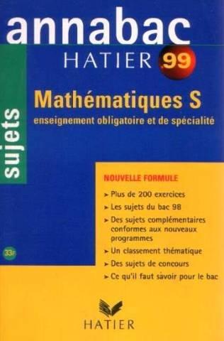 Annabac 1999 mathématiques, Terminale S