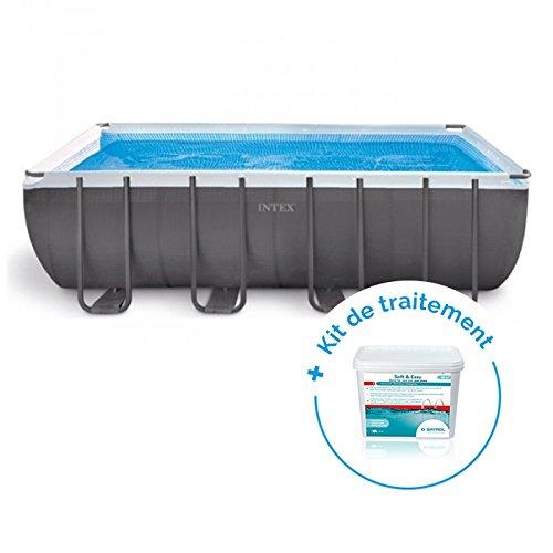 RAVIDAY Pack Piscine Tubulaire Intex Ultra XTR 5,49 x 2,74 x 1,32 m + Traitement pour piscines  20 m³