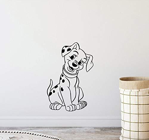 yaonuli Niedliche Hund Wandtattoos Kinderzimmer abnehmbare Vinyl Aufkleber Kindergarten Spielzimmer Dekoration Wandtattoo 54x73cm
