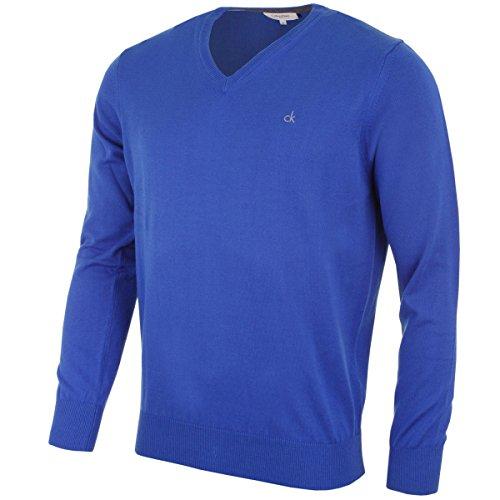 Calvin Klein Herren Pullover (Blau Golf-pullover)