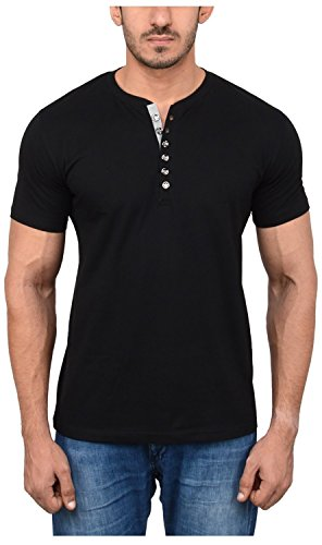 Aarbee-Mens-Cotton-henley-T-Shirts-Combo-of-2-in-8-vibrant-color