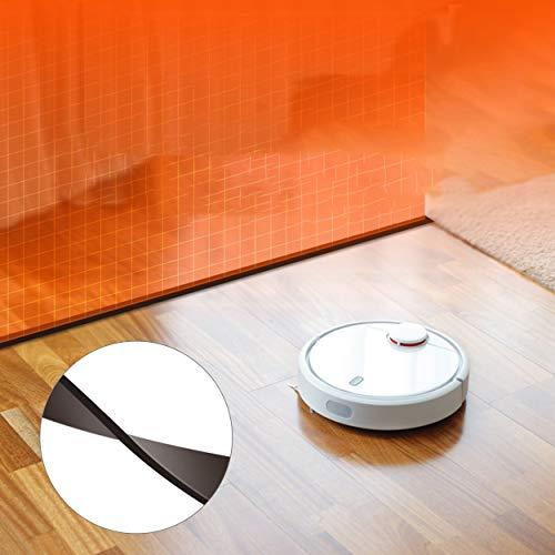 Lorenlli Reemplazo Protector de la Cinta de la Barrera del vacío del Robot Xiaomi Apta 2 Metros para Las Piezas del Aspirador del Robot MI