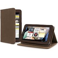 """Cover-Up - Custodia in Canapa Naturale per Lenovo IdeaTab A2107 (7"""") (Con Supporto) – Colore Marrone Cacao"""