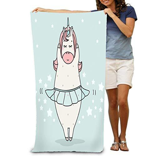 Microfiber fast drying bath towels swimming camping towel,adults spa bath towel 31x51 inches cute ballerina dancer unicorn cartoon doodle art magic creature can be used print fashion de design