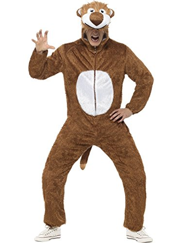 Löwe Kostüm enthält Jumpsuit mit Kapuze, (Löwe Amazon Kostüm)