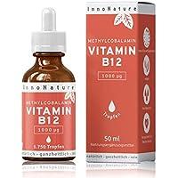 Vitamin B12 (Methylcobalamin) 1.750 Tropfen (1000 µg pro Portion / 200µg pro Tropfen) in 50ml Flasche als 12 Monatsvorrat. Frei von Konservierungsstoffen. Laborgeprüft, hohe Bioverfügbarkeit, hochdosiert, vegan + hergestellt in DE