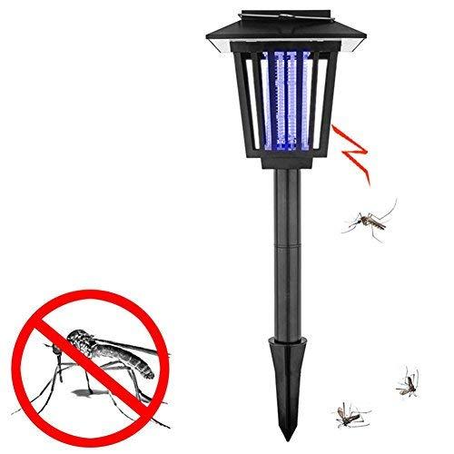 2 Stück Sonnenenergie Mückenvernichter Insektenvernichter UV Lampe, 2 Modi Eins für Das Licht und Eins Für Das Violett Licht Zapper Mode