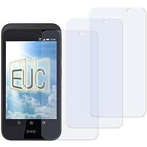 3 x Displayschutzfolie klar/wie unsichtbar für HTC Desire 320