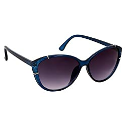 Roycee Womens Blue Cateye Sunglasses (RC 802-05)