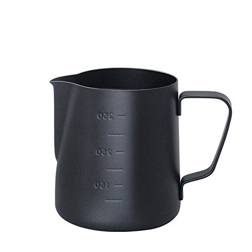 Vlunt pichets-mousseurs de leche (acero inoxidable, jarra de leche para el café con marquages, 400ml/600ml 400ml