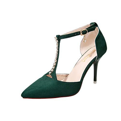 iHENGH 2019 Nuovo Sandali da Balla Tacco Medio Moda Casual Vintage Donne Scarpe Semplice Elegante Ragazza Sandalo Donna Piatte Fibbia Romana Peep-Toe Scarpe Estate