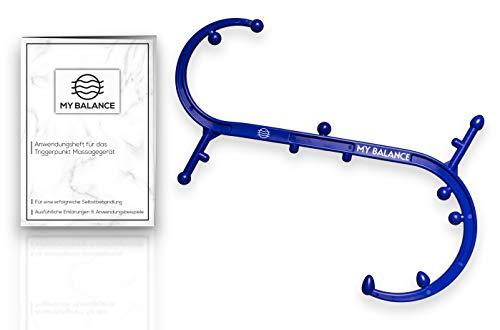 My Balance Triggerpunkt Massagegerät + GRATIS Anwendungsheft 24seitig inkl. Anwendungsbildern (Blau)