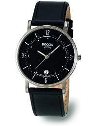 Boccia 3533-01 - Reloj de caballero de cuarzo, correa de piel color negro