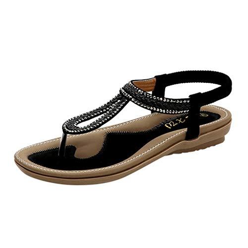 Sandali Bambina/Donna Eleganti Sandali Estivi Scarpe Spiaggia Infradito da Donna- Open Toe Strass...