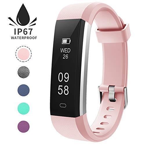 Imagen de pulsera de actividad inteligente, sumergible reloj deportivo ip67 smartwatches cómodo con pantalla táctil longitud ajustable para hombres y mujeres