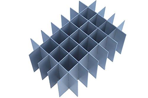 Eurokisten-Inneneinteiler Set, Höhe 250 mm, Zellen= 35 °, Längenteiler = 555 mm, Trennwände = 360 mm, Höhe – L = 250 mm