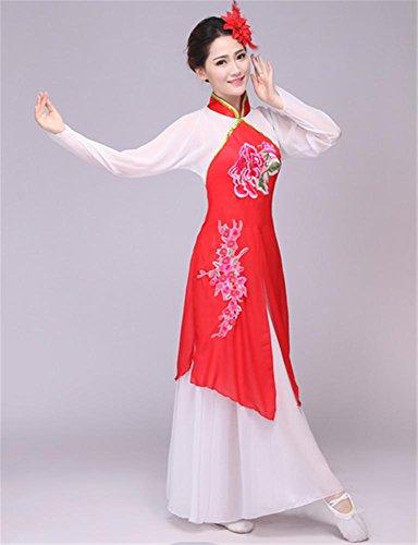 Mädchens National Tanz chinesische Kleidung / Frau klassischen Tanz Bühnenbild Kostüm Anzug , xxl , (Mädchen Für Chinesischen Kostüm Nationalen)