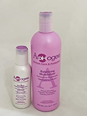 ApHogee Balancing Moisturizer 16oz and Two Step Protein Treatment 4oz from ApHogee