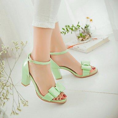 LvYuan Damen-Sandalen-Party & Festivität Kleid Lässig-PU-Blockabsatz-Andere-Grün Rosa Weiß Silber Green