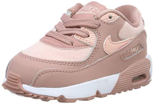 Nike Unisex Baby Air Max 90 Se Mesh (td) Niedrige Hausschuhe, Mehrfarbig (Rust Storm Pink/Guava Ice/White 601), 22 EU