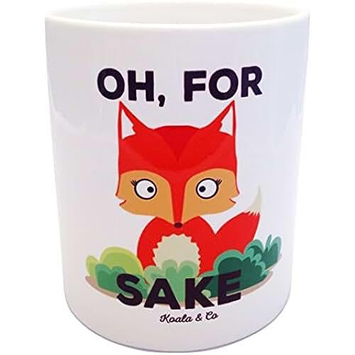 dia del orgullo friki Koala & Co - Taza desayuno original Oh for fox sake, cerámica, 35cl