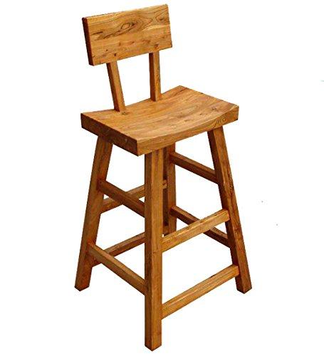 WUDENG Escabeau en bois massif avec dossier Rainure assise multifonction couleur naturelle 30x45x105cm (Couleur : Natural color)
