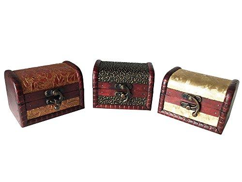 Schatztruhe, 3er Set, Schmuckkästchen, Piratenschatztruhen, auch für Geldgeschenke und als Geschenkverpackung
