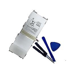 Uniamy Laptop Replacement Battery + Free Tools For Samsung Tab 4 10.1 Sm-t530, Tab 4 10.1 Sm-t530nu, Tab 4 10.1 Sm-t530nykaxar, Tab 4 10.1 Sm-t530nzwaxar, Tab 4 10.1 Sm-t531, Tab 4 10.1 Sm-t533, Tab 4 10.1 Sm-t531nzwaxsg, Tab 4 10.1 Sm-t535, Tab 4 10.1 Sm-t535 Nykaxme, Tab 4 10.1 Sm-t537, Tab 4 10.1 Sm-t537 Aykaatt, Tab 4 10.1 Sm-t537r4