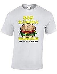 JLB Print Big Kahuna Burger Pelicula Pandillas Violenta Inspirada Camiseta Ajuste Regular Primera Calidad para Hombres