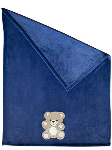 ZOLLNER® Manta para bebé/mantita de arrullo/manta para minicuna o cochecito,100x75 cm, suave...
