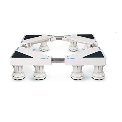Basisständer Qiangzi Einstellbare Weiße Geräte-Rollen-Sockel-Waschmaschine-Boden-Behälter Hochleistungs-Spezielle Basis-Kocher-Kühlschränke 12 Fuß 500kg Last Für Badezimmer Küche (Polyethylen Boden)