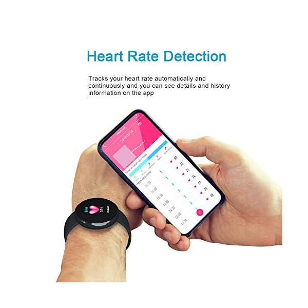 Reloj Inteligente Mujer,Reloj de Monitor de Ritmo cardíaco con Pantalla