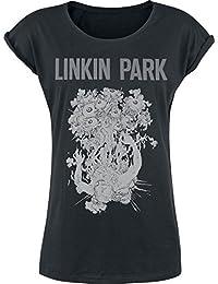 Linkin Park Eye Guts Camiseta Mujer Negro