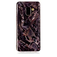 BONROY Samsung Galaxy A6 2018 Case, Design Clear Bumper TPU Soft Case Rubber Silicone Skin Cover for Samsung Galaxy A6 2018 - (YH-Brown Marble)