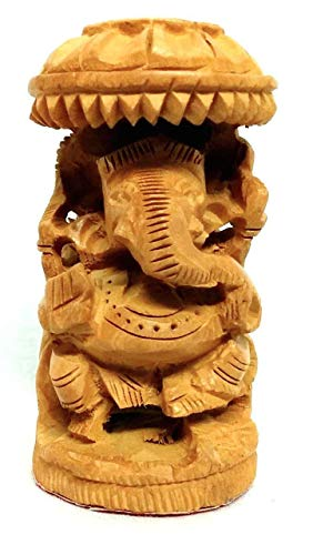 Bignay Wooden Ganesha Statue Ganpati Display Statue Hand Carved Elephant Lord Ganesha Traditional Indian Ganpati Temple Sculpture Buy Online In Honduras Missing Category Value Products In Honduras See Prices