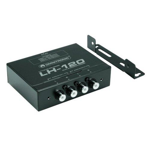 Omnitronic LH-120 Dual-Stereo-Umsetzer | Passiver CAT-5-Umsetzer für Audiosignale | Übertragung von Stereo-Audiosignalen bis zu 600 Meter - Cat5-stereo