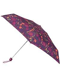 totes Miniflat Purple Folk Floral Print Umbrella (5 Section)