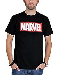 T-shirt logo Marvel pour les fans de bande dessinée noir