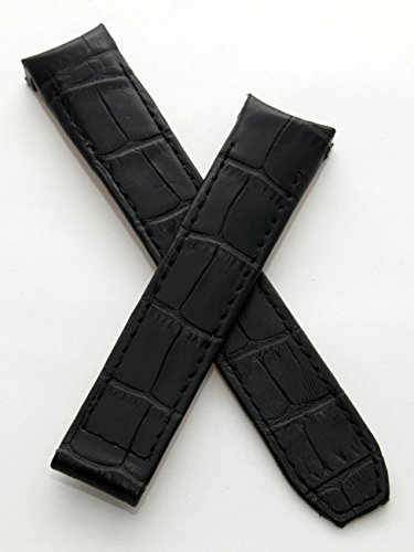 watch-strap-world-20-mm-black-leather-crocodile-effect-deployment-type-strap-to-fit-baume-mercier-ca