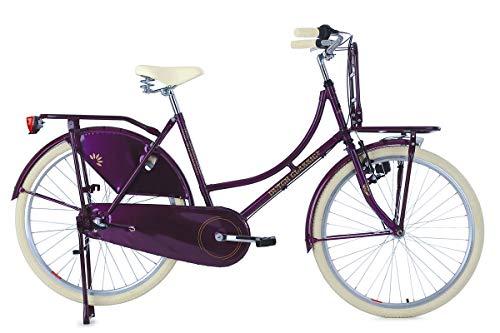"""KS Cycling Damen Hollandrad 26\"""" DutchClassic 3Gänge mit Frontgepäckträger lila RH48cm Fahrrad"""
