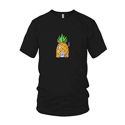 Ananas tief im Meer - Herren T-Shirt, Größe: XXL, Farbe: schwarz (Spongebob Figur Kostüme)