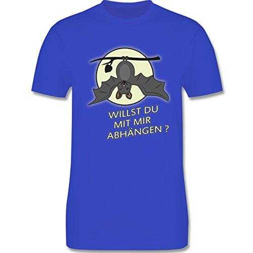 Sprüche - Fledermaus - willst du mit mir abhängen ? - Herren Premium T-Shirt Royalblau