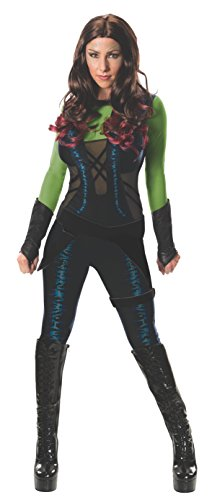 Deadpool Lady Kostüm - Gamora Guardians of the Galaxy Kostüm für Damen, Größe:XS
