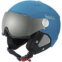 Bollé 31158 - Casco de esquí Backline Azul/Plateado (Soft Blue/Silver), visor Plateado/Limón (Silver Gun/Lemon), 59–61cm