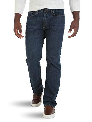 Wrangler Herren Big & Tall Comfort Flex Waist Relaxed Fit Jeans, Carbon, 52W / 30L - Jeans Men Tall Wrangler