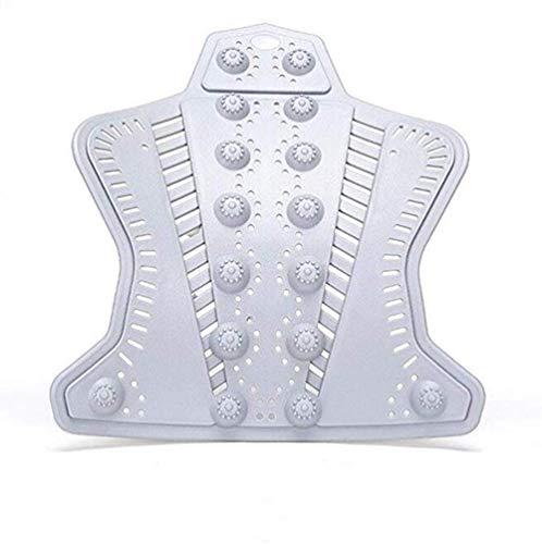 Preisvergleich Produktbild Erwärmung der Wirbelsäule Heiße Kompression Taille Taille Rücken Stretch Unterstützung Massagepad Korrekturpad, Schwarz, 51x43.2cm