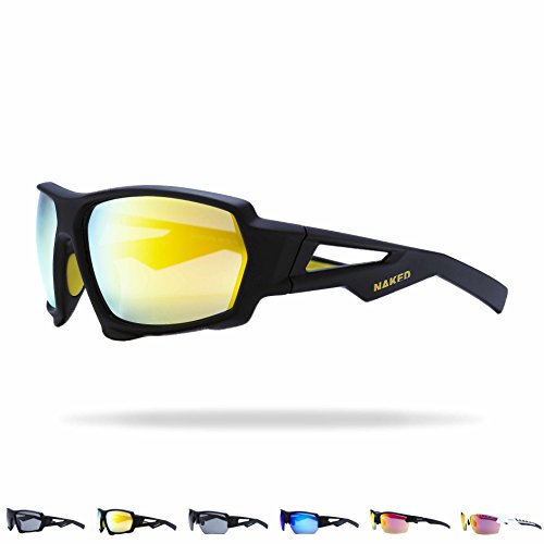 NAKED Optics Sportbrille (Fullframe Black/Lens Yellow)